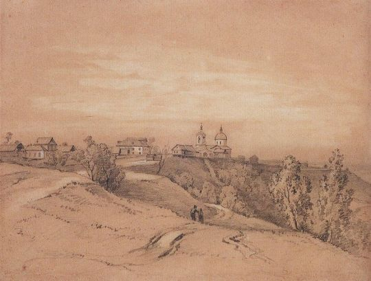 Воробьевы горы близ Москвы