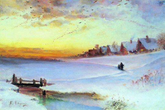 Зимний пейзаж (Оттепель)