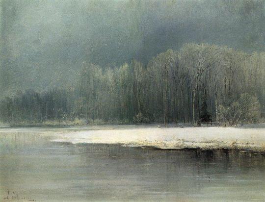Зимний пейзаж. Иней
