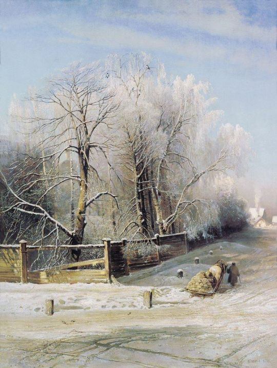 Зимний пейзаж. Москва