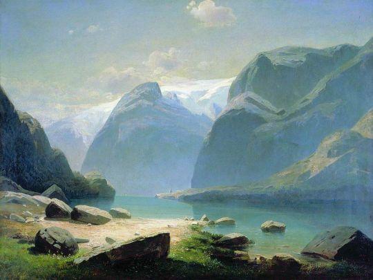 Озеро в горах Швейцарии
