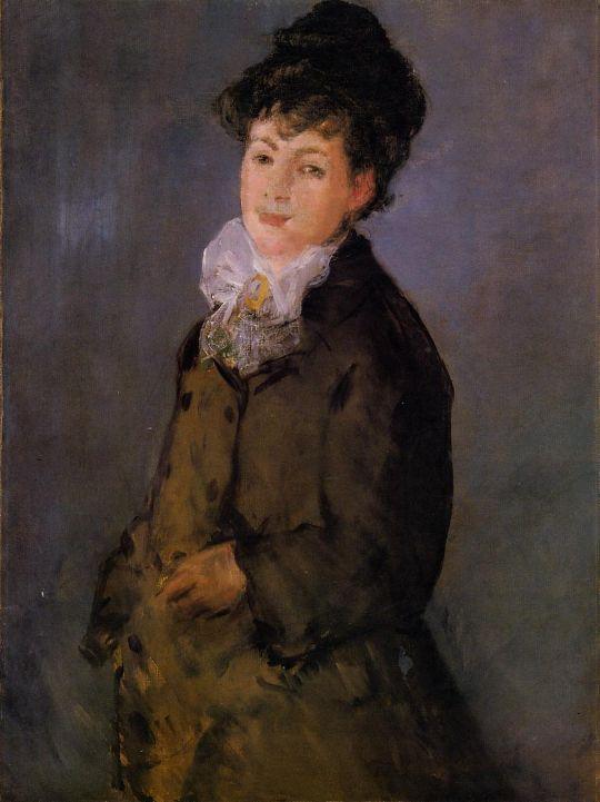 Изабель Лемонье с белым шарфом
