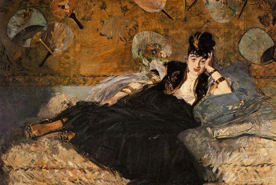 Дама с веером, Портрет Нины де Кале