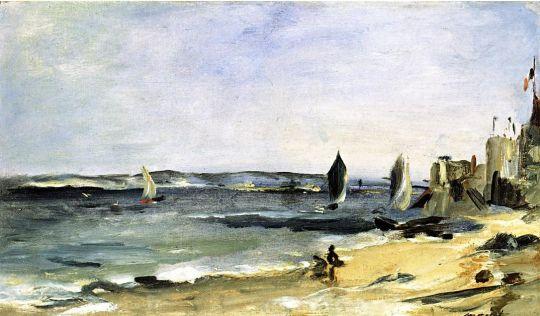 Морской пейзаж в Аркашоне (также известна как Аркашон, прекрасная погода)