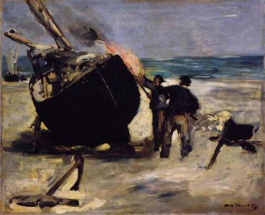 Осмоление лодки