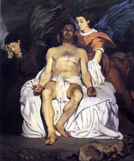Мертвый Христос и ангелы