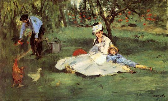 Семья Моне в саду