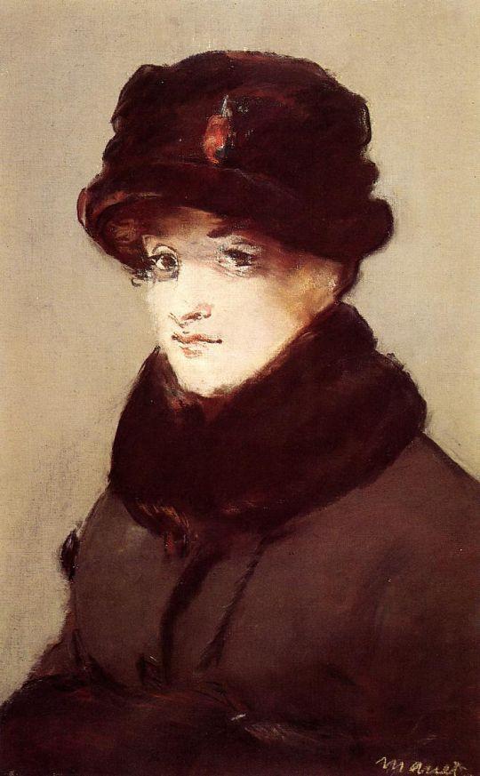 Женщина в мехах, Портрет Мери Лоран