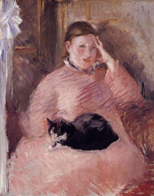 Женщина с котом, Портрет мадам Мане