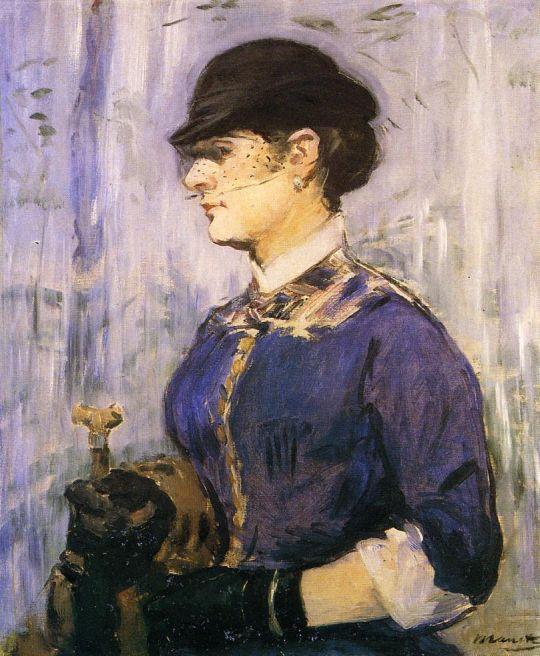 Девушка в круглой шляпе
