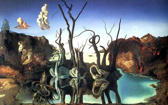 Лебеди отраженные в слонах