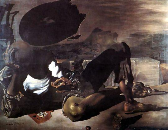 Философ освещенный луной и ущербным солнцем