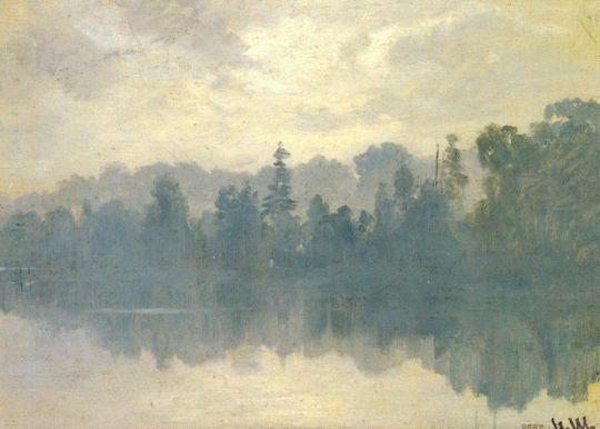 Крестовский остров в тумане.