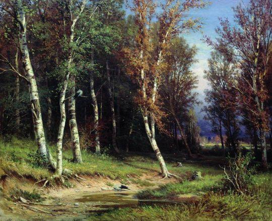 Лес перед грозой.