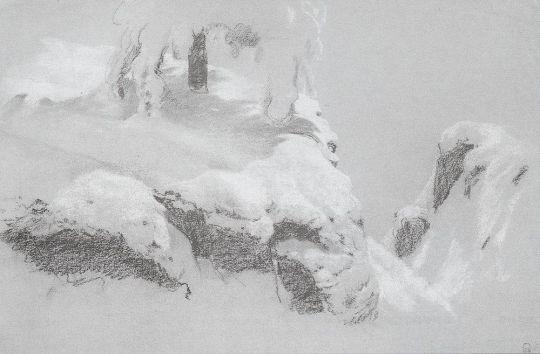 Фрагментарный эскиз для картины На севере диком...