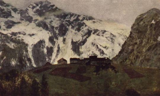 В Альпах.