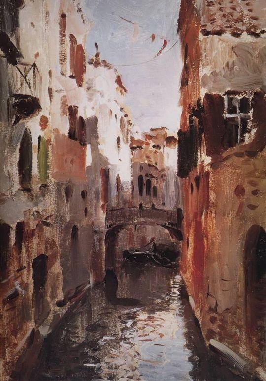 Канал в Венеции.