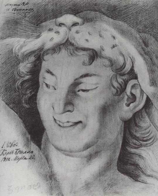 Голова Вакха ( копия с оригинала ).
