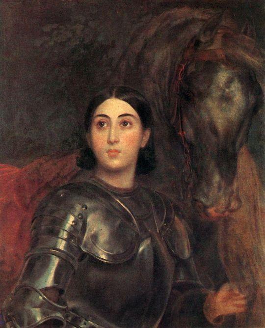 Портрет Джульетты Титтони в латах.