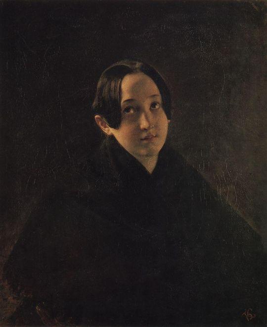 Портрет Е.И.Дурновой, жены художника И.Т.Дурнова.