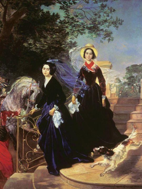 Портрет сестер А.А. и О.А.Шишмаревых.