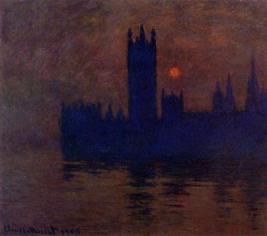 Дом Парламента, закат