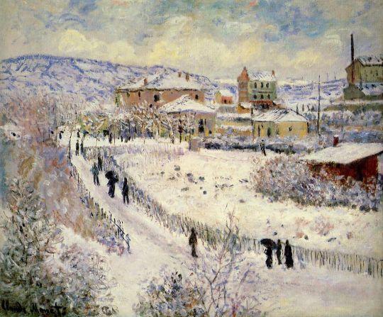 Вид Аржантей в снегу