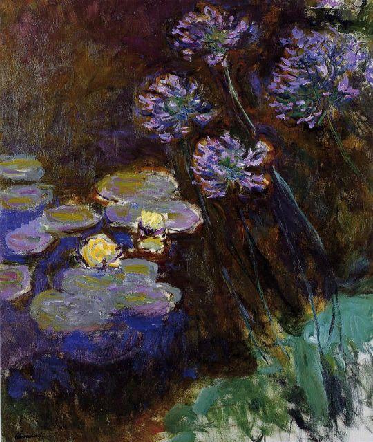 Водяные лилии (правая половина)