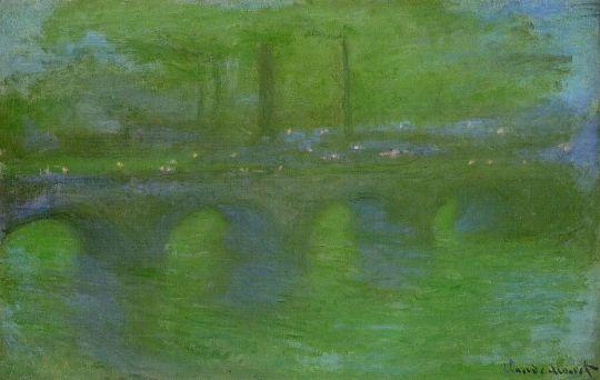 Мост Ватерлоо в тумане