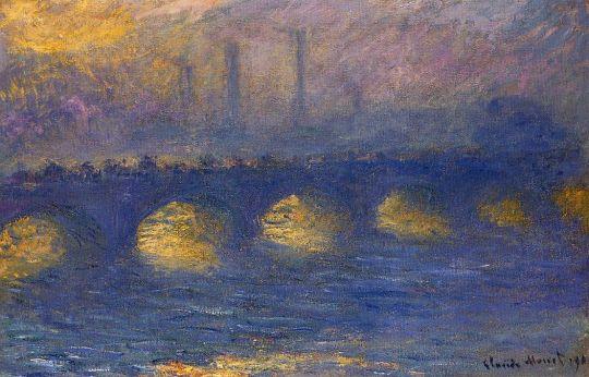 Мост Ватерлоо, пасмурная погода