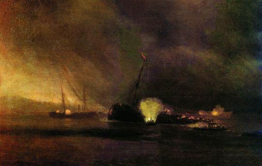 Взрыв трехмачтового парохода в Сулине 27 сентября 1877 года