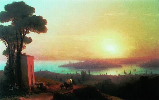 Вид Константинополя при вечернем освещении