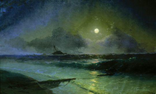 Восход луны в Феодосии