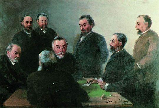 И.К. Айвазовский в кругу друзей