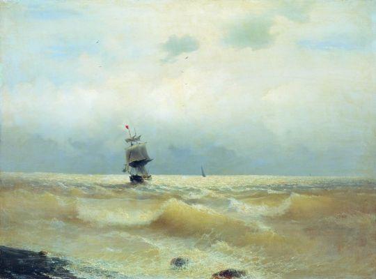 Корабль Императрица Мария во время шторма