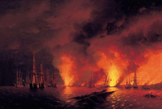 Синопский бой 18 ноября 1853 года (ночь после боя)