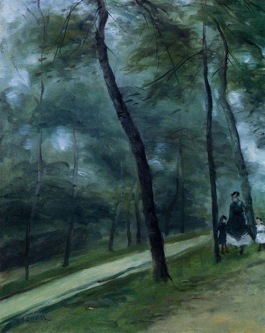 Прогулка в лесу (также известная как Мадам Лё кёр с детьми)