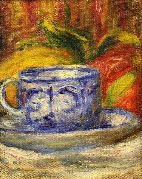 Чашка и фрукты