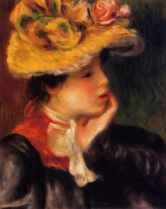 Голова девушки(также известная как Желтая шляпа)