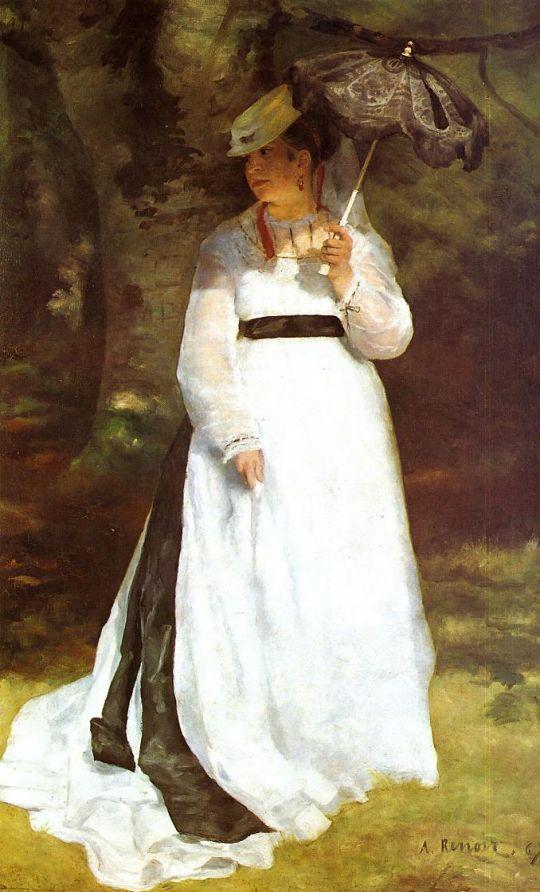 Портрет Лиз с зонтиком