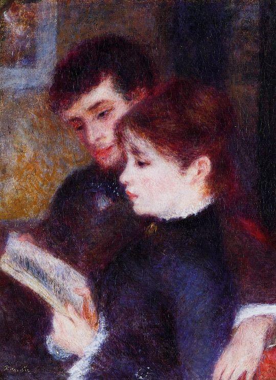 Пара за чтением (также известный как Эдмон Ренуар и Маргарита Легран)