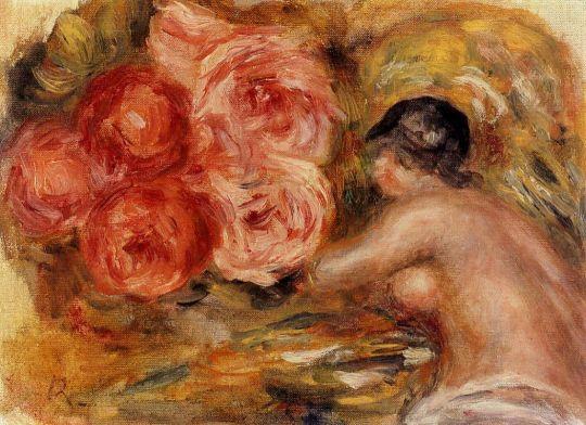 Розы и эскиз Габриэль