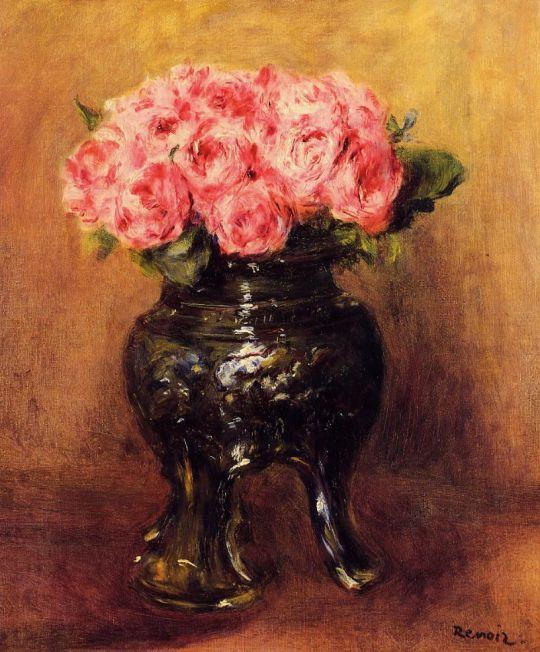 Розы в китайской вазе