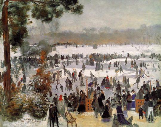 Катание на коньках в Булонском лесу