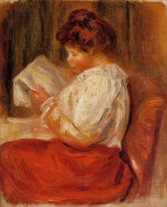 Юная читательница (также известная как Девочка в синем)