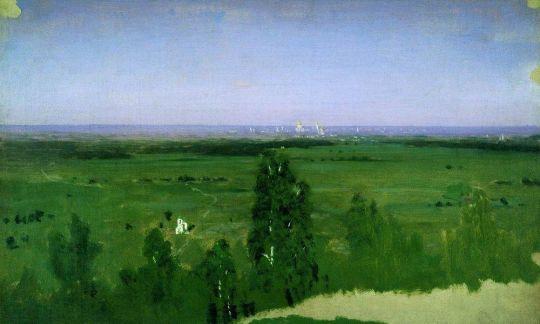 Вид на Москву с Воробьевых гор.