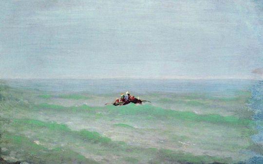 Лодка в море. Крым. До .