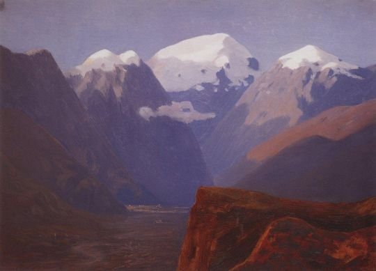 Снежные вершины. Кавказ.