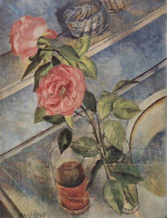Натюрморт с розами.