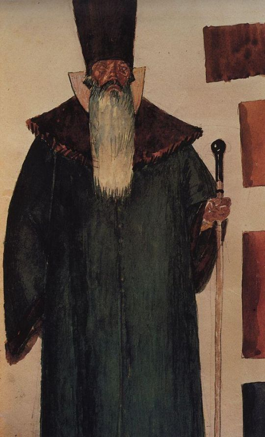 Эскиз костюма боярина к трагедии А.С.Пушкина Борис Годунов.